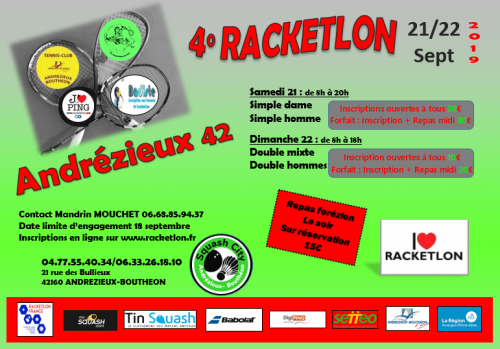 4° RACKETLON D'ANDREZIEUX